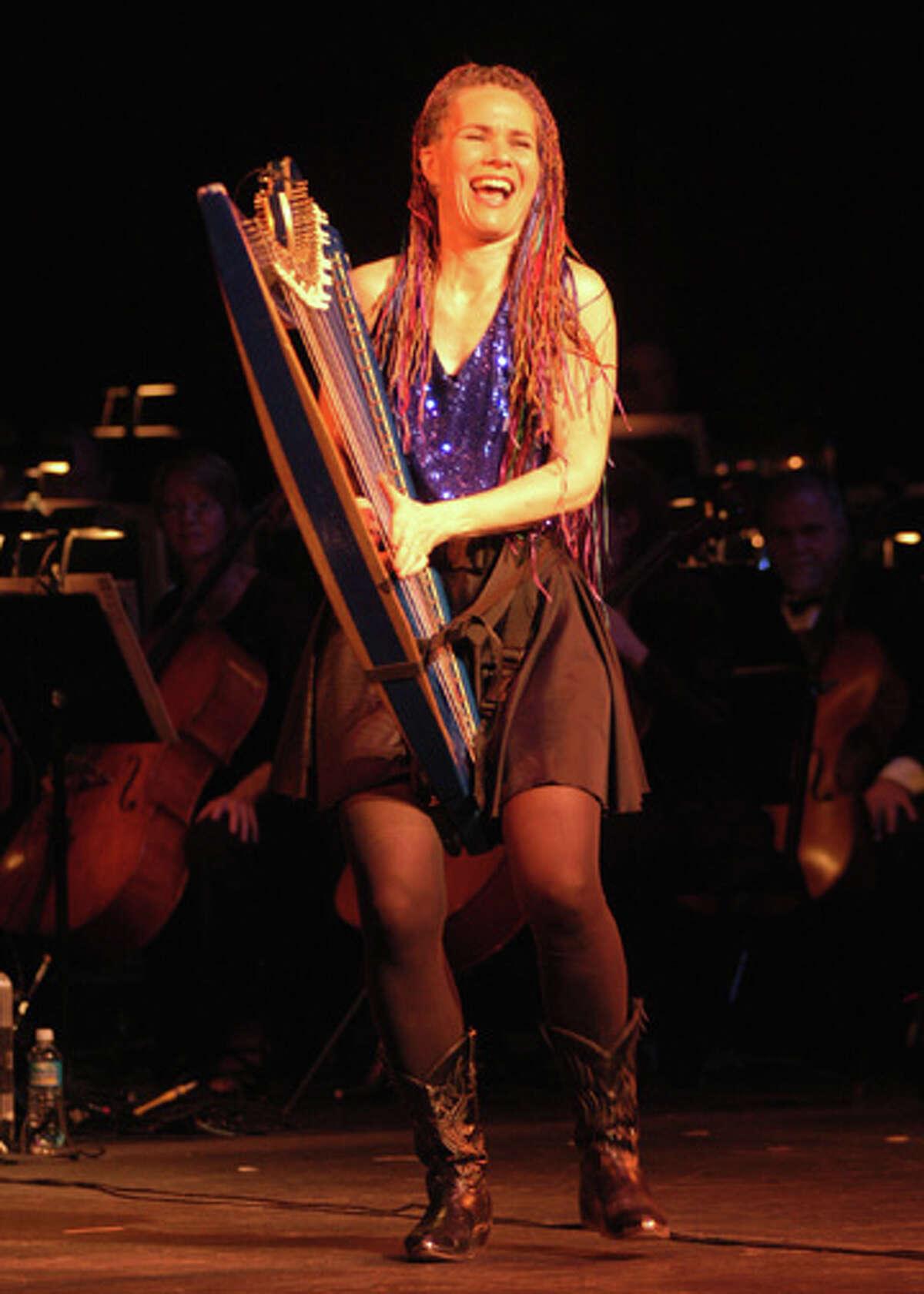 Harp player extraordinaire Deborah Henson-Conant performs at Edmond Town Hall in Newtown on Saturday, Feb. 4, at 7 p.m.