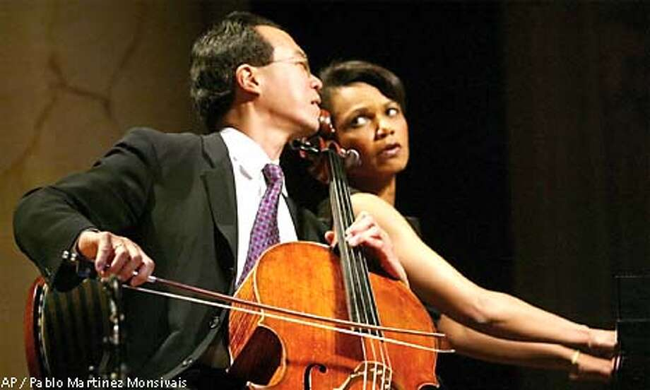 Condoleezza Rice Is a Classical PianistThe former Secretary of State began taking lessons at 15 with the idea she'd become a professional pianist. Her initial college major at the University of Denver was even piano! She obviously chose a different career path, but she still plays in a chamber group. She's also accompanied world-famous cellist Yo-Yo Ma and performed at Buckingham Palace for the Queen.Cheery Holiday Wreaths Photo: PABLO MARTINEZ MONSIVAIS