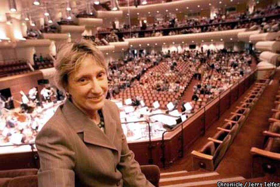 Board President Nancy Bechtle, at Davies Symphony Hall in May, kept the San Francisco Symphony going strong for 14 years. Chronicle photo by Jerry Telfer