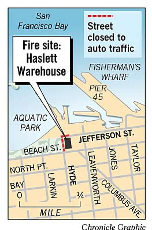 Haslett Warehouse Fire Site. Chronicle Graphic