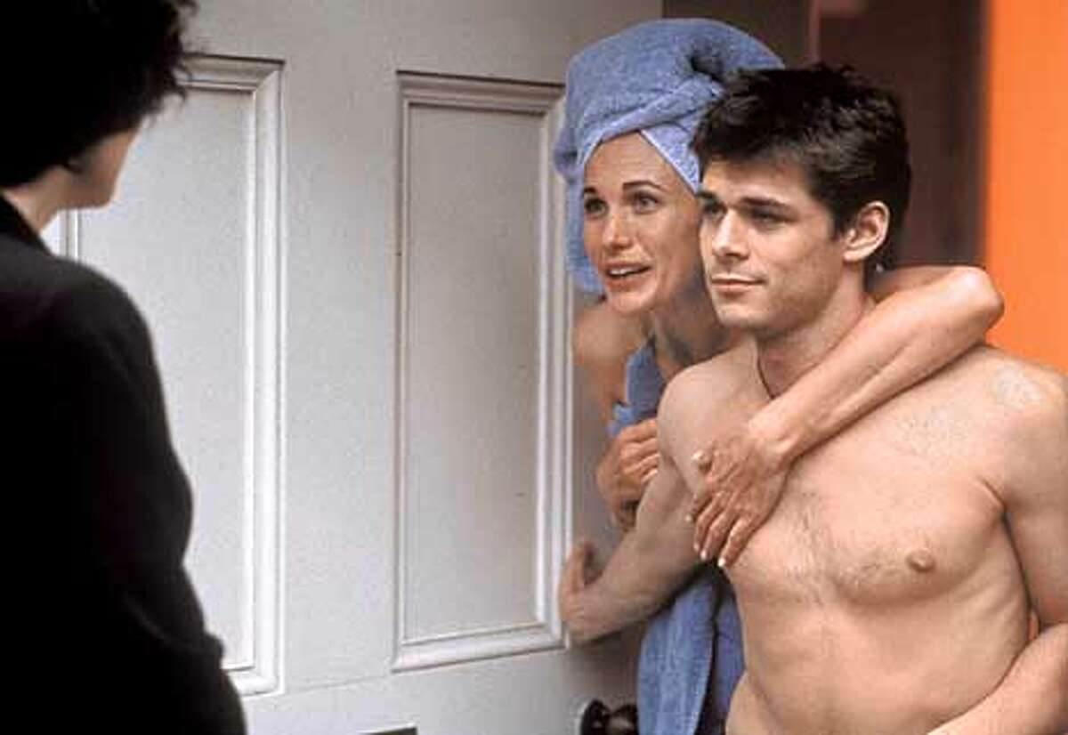 Andie MacDowell as Kate and Kenny Doughty as Jed in CRUSH