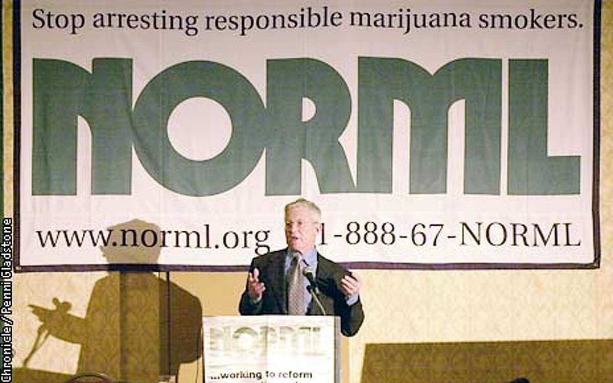 san francisco district attorney Terence Hallinan at pot conference held at Crowne Plaza Union Hotel. It was the Start of the 2002 conference of the national organization for the reform of marijuana laws. PHOTOGRAPHY BY PENNI GLADSTONE