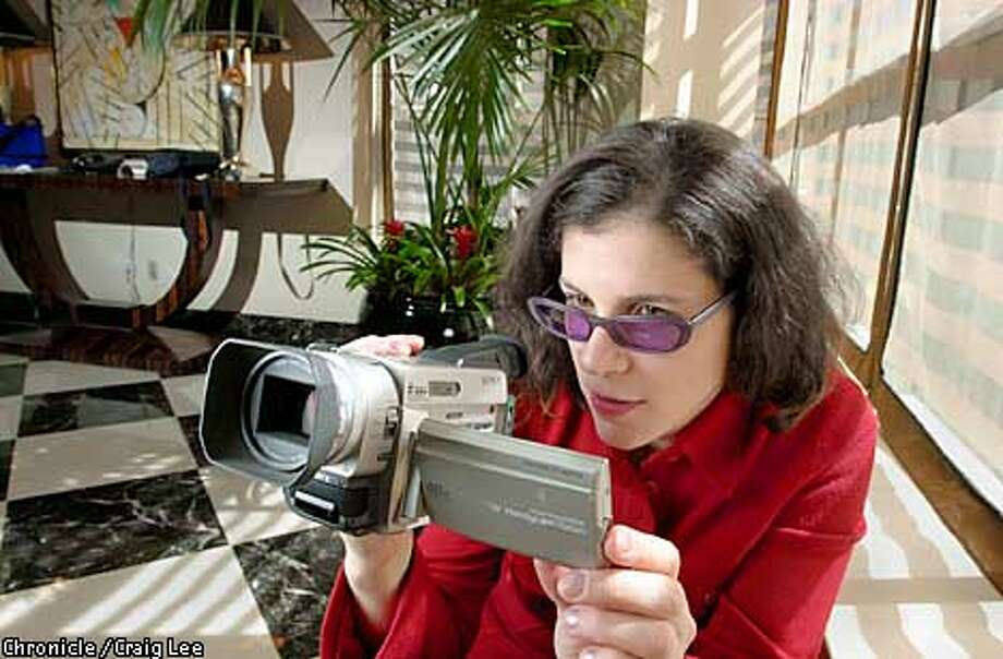 """Alexandra Pelosi, daughter of Congresswoman Nancy Pelosi, made a film with her handheld digital video camera, """"Journeys with George,"""" which is a documentary of our President George W. Bush filmed on the campaign trail in 2000. What's odd is that Pelosi is a staunch Democrat and has made a film about George Dubya Bush which is upbeat. Photo by Craig Lee/San Francisco Chronicle Photo: CRAIG LEE"""