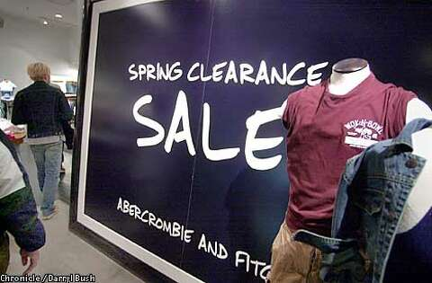 23cd4691e62 Customers at the Abercrombie   Fitch store in the San Francisco Shopping  Centre walked past a