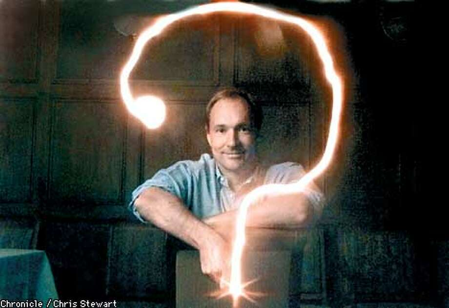 Tim Berners-Lee has written a book about his creation of the internet. The reporter didn't see fit to provide the title of book. Photographed at the Mark Hopkins Hotel, SF. BY CHRIS STEWART/THE CHRONICLE Photo: CHRIS STEWART