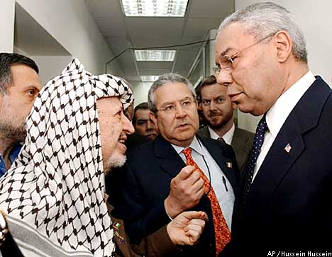 an analysis of the president yasser arafats role on the prime minister ariel sharon Menachem begin, guerrilla leader who became peacemaker by james feron menachem begin, the israeli prime minister who made peace with egypt, lived much of.