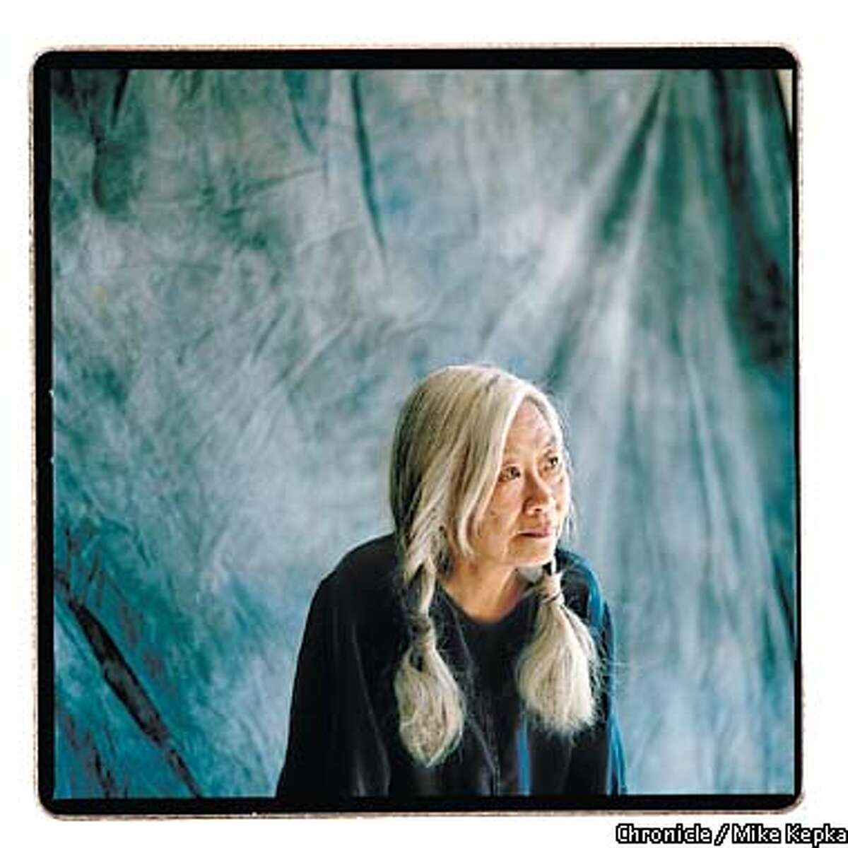 """Oakland based author Maxine Hong Kingston wrote """"The Woman Warrior"""" and the fourth coming book called the """"Fifth Book of Peace."""" BY MIKE KEPKA/THE CHRONICLE"""