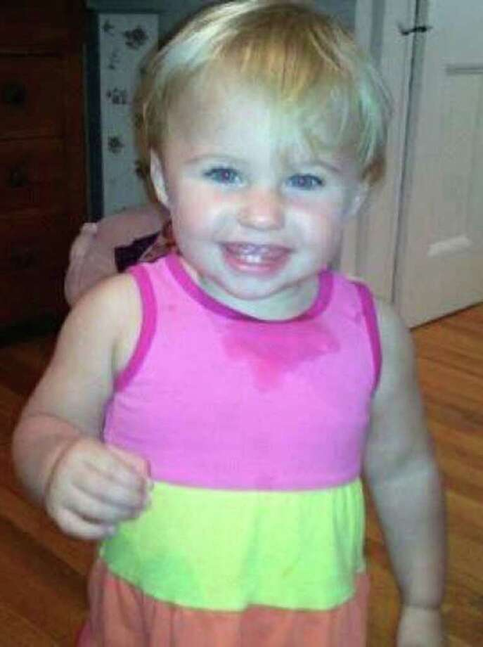FILE - This undated file photo obtained from a Facebook page shows missing toddler Ayla Reynolds. Investigators said Sunday, Jan. 29, 2012, that some of the blood found in the Maine home where Reynolds was last seen on Dec. 17 belonged to the little girl. State Police spokesman Steve McCausland would not say how much of Ayla Reynolds' blood was found in the Waterville home of her father, Justin DiPietro. (AP Photo/obtained from Facebook, File)