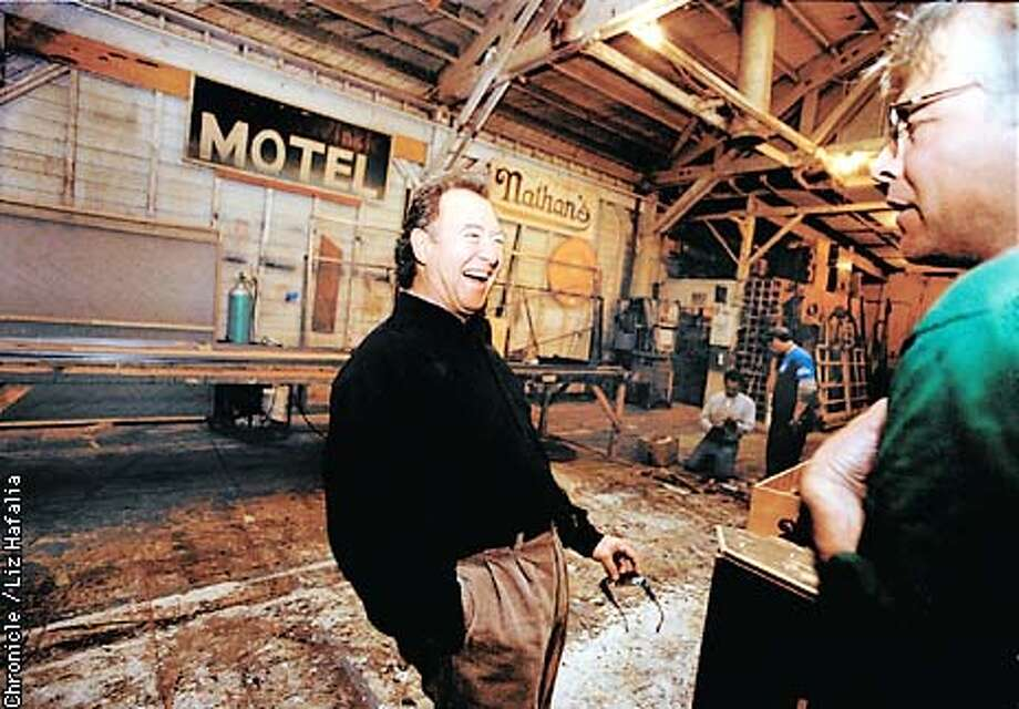 NEIGHBOR14A-C-12FEB02-MG-LH--Stu Cook, original bass player for Creedence Clear Water Revival, visiting the Cosmo's Factory for the first time in awhile. Where songs were once made, a branch of the Berkeley Repretory Theater now leases.  (PHOTOGRAPHED BY LIZ HAFALIA/THE SAN FRANCISCO CHRONICLE) Photo: LIZ HAFALIA
