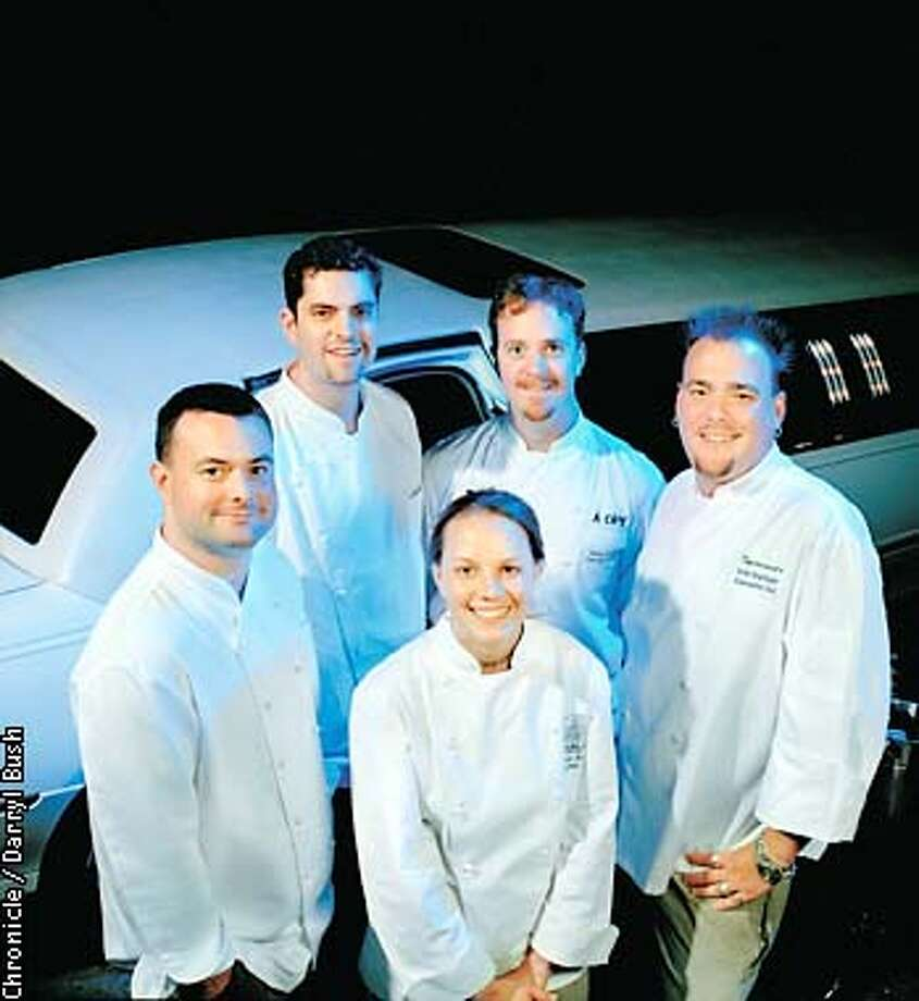 Rising Stars: (left to right) Chefs Douglas Keane, Mark Purdy, Melissa Perello, Matt Colgan, Eric Hopfinger. Chronicle photo by Darryl Bush