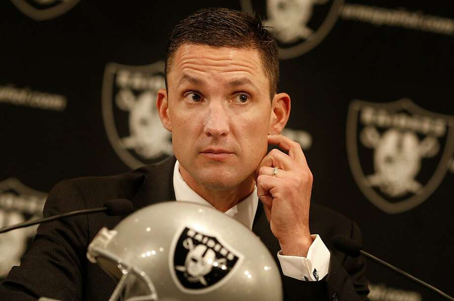 Raiders head coach Dennis Allen listened to a question from fans. The Oakland Raiders introduced their new head coach, Dennis Allen at their training facility in Alameda, Calif. Monday January 30, 2012. Photo: Brant Ward, The Chronicle