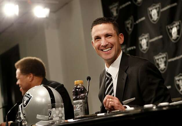 New head coach Dennis Allen smiled at a question from a season ticketholder. The Oakland Raiders introduced their new head coach, Dennis Allen at their training facility in Alameda, Calif. Monday January 30, 2012. Photo: Brant Ward, The Chronicle