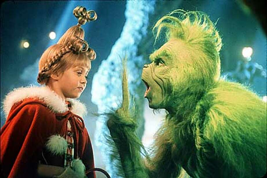 Taylor Momsen and Jim Carrey in DR. SEUSS' HOW THE GRINCH STOLE CHRISTMAS.
