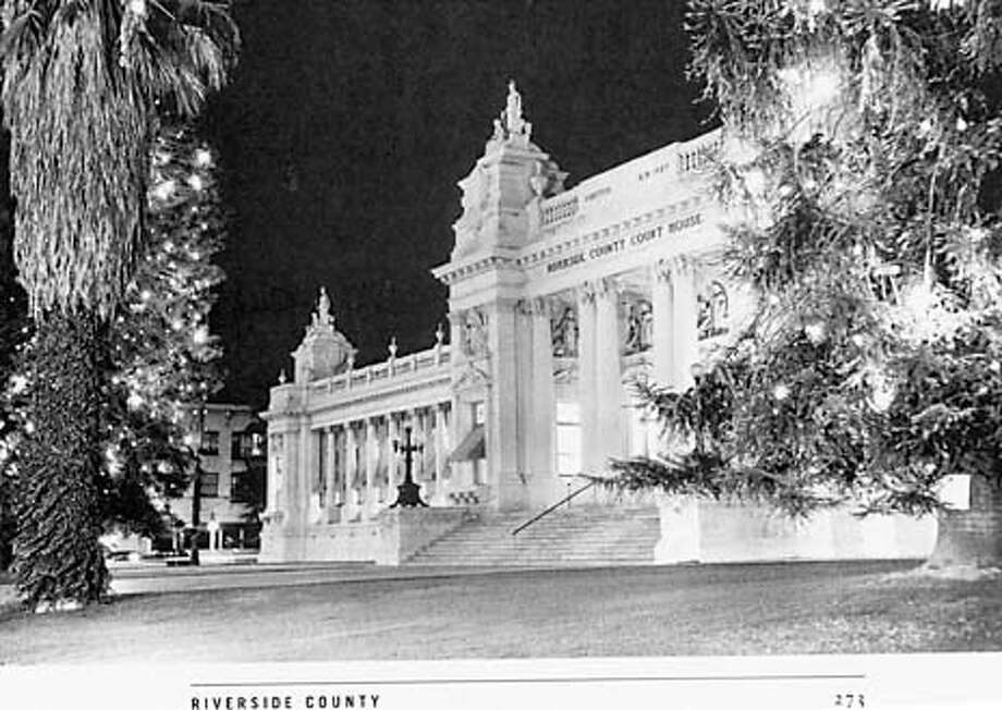 "ARCHITECT FRANKLIN PIERCE BURNHAM'S BEAUX ARTS DESIGN FOR THE COURTHOUSE COMPLETED IN 1904 IN RIVERSIDE COUNTY IS THOUGHT TO HAVE BEEN INSPIRED BY THE GRANT PALAIS AND PETIT PALAIS CONTRUCTED FOR THE 1900 PARIS EXPOSITION. PAGE 273, ""COURTHOUSES OF CALIFORNIA' AN ILLUSTRATED HISOTY EDITED BY RAY MCDEVITT,IN THE LAWOFFICE OF HANSON BRIDGETT, 333 MARKET ST, SF 94105 Photo: HANDOUT"