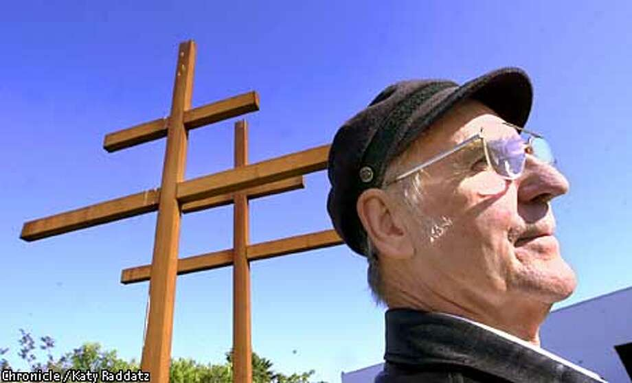"Raymond Carrington created a foundation to give away art such as ""The Double Cross of Lorraine"" to public or nonprofit organizations. Chronicle photo by Katy Raddatz"