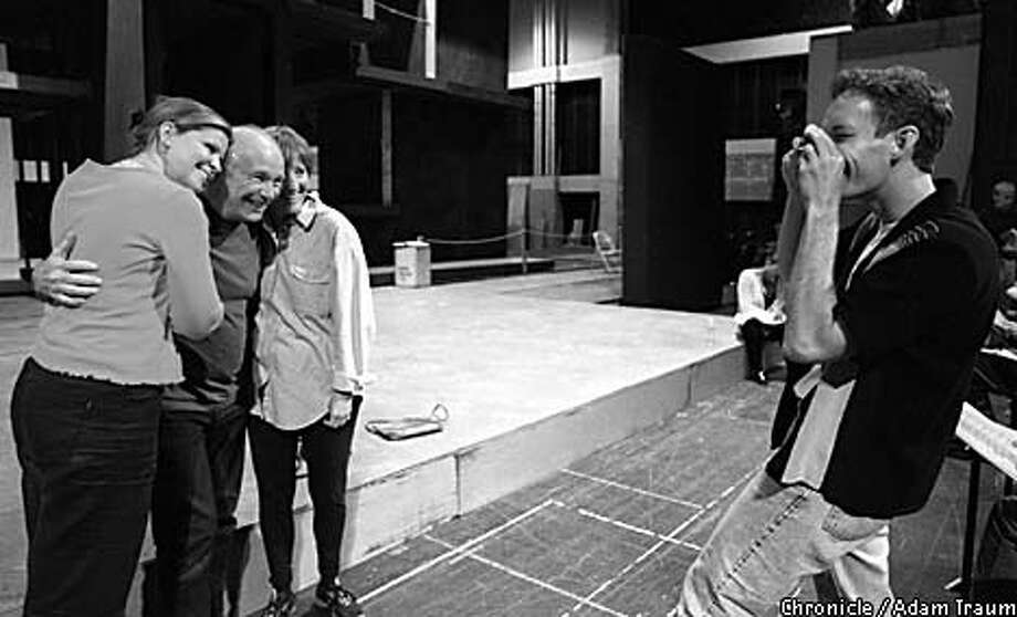 Susan Graham, Terrence McNally, Frederica von Stade and Jake Heggie (taking photo) won't be working with the Houston Grand Opera. Chronicle photo, 2000, by Adam Traum
