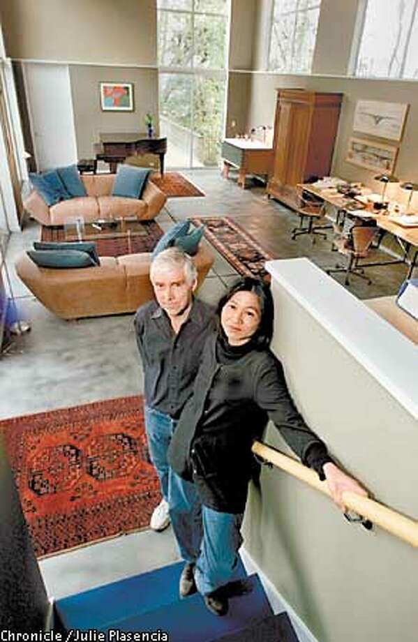 Marcy Wong and Donn Logan, husband and wife architects designed a unique home for their family in the Berkeley hills.  (JULIE PLASENCIA/SFC) Photo: JULIE PLASENCIA