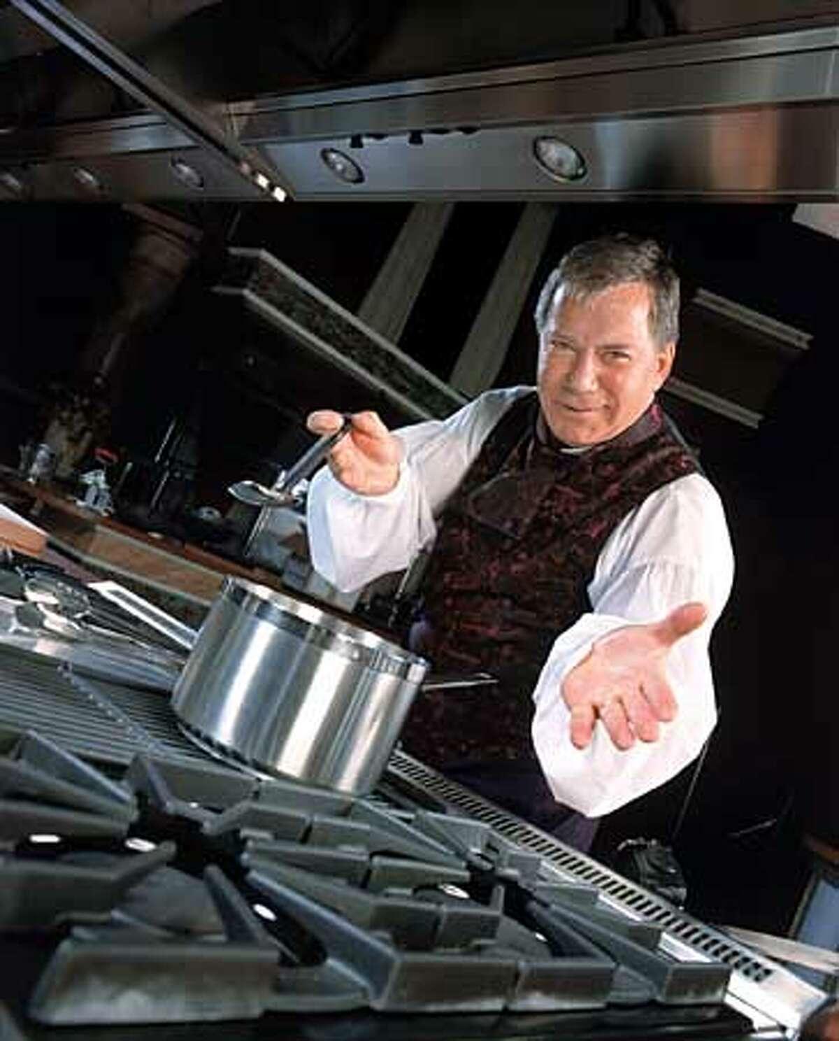 William Shatner on The Iron Chef. Photo: Nelson Machin/UPN. HANDOUT.