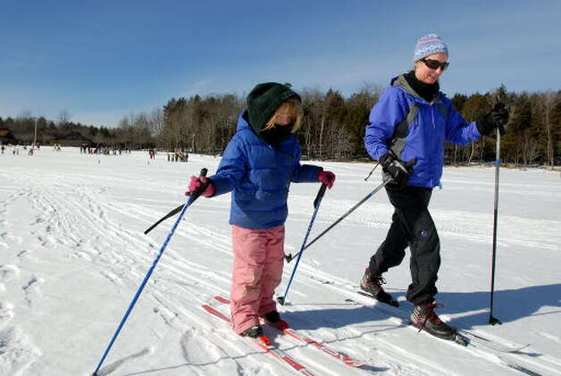 Winter activities at Grafton Lakes State Park in Rennselaer County.