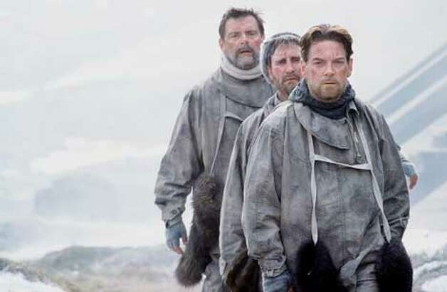 C4 - Shackleton  Kevin McNally (Frank Worsley), Mark McGann (Tom Crean), Kenneth Branagh (Sir Ernest Shackleton)  Shackleton, Worsley and Crean attempt to reach the whaling station on South Georgia  � Photograph: Nick Briggs This picture may be used solely for Channel 4 programme publicity purposes in connection with the current broadcast of the programme(s) featured in the national and local press and listings.  Not to be reproduced or redistributed for any use or in any medium not set out above (including the internet or other electronic form) without the prior written consent of Channel 4 Picture Publicity 020 7306 8685