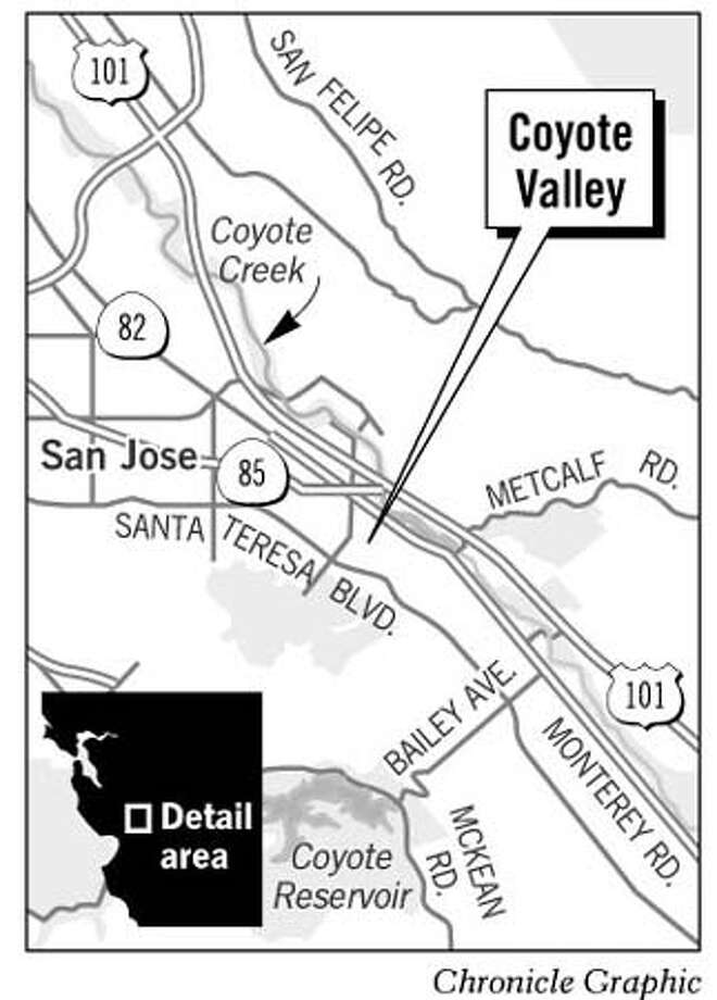 Coyote Valley. Chronicle Graphic