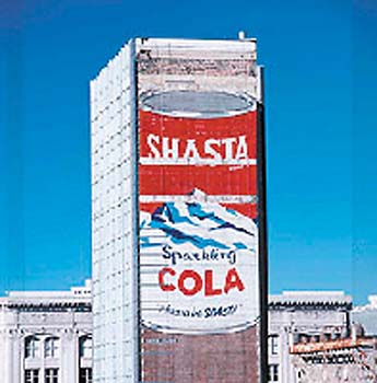 '50s Shasta ad painted over in S.F. / 'Find the Miracle ...