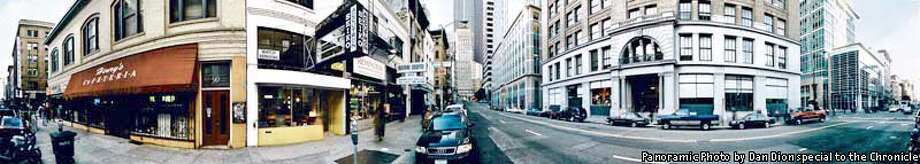 A 360-degree view of Second Street at Mission. Photo by Dan Dion, special to the Chronicle