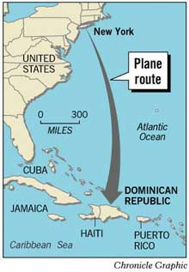 Plane Route. Chronicle Graphic