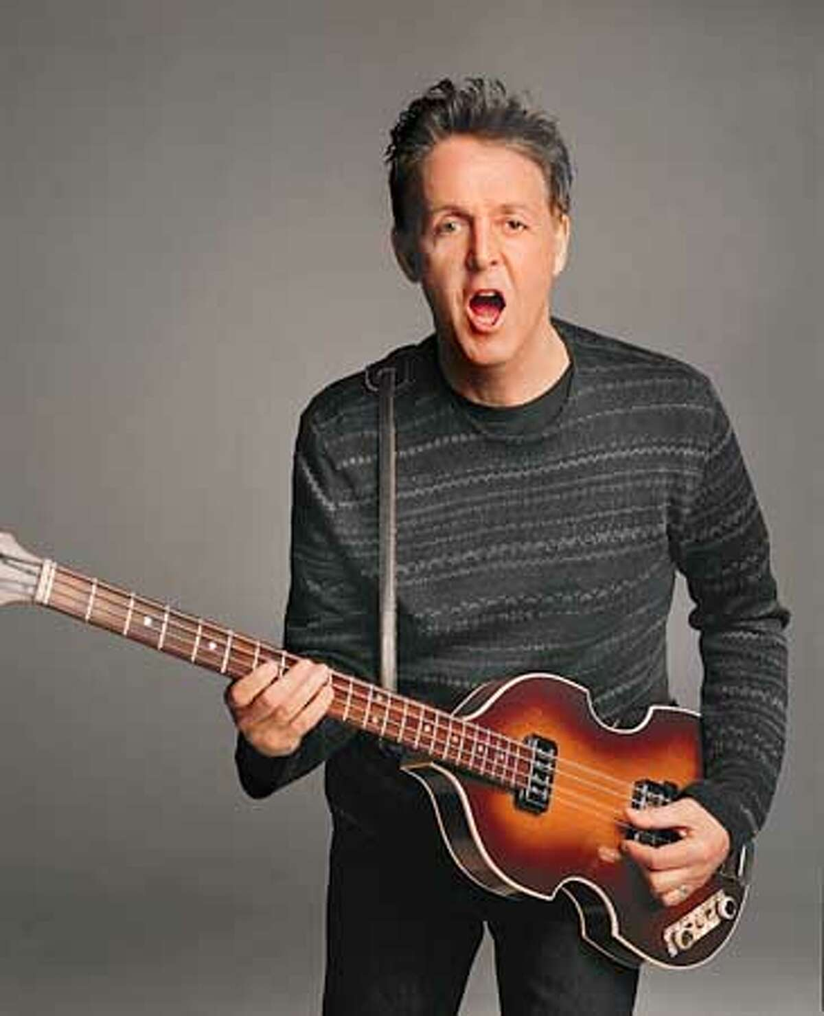 Paul McCartney. This Sweater Shot is exclusive to the SF Chronicle.�(The other Sweater shot is semi-exclusive.....it will be given to a few other papers). My email will be down after 1PM EST....please call 917.207.5989 or 212.979.2810 if you have any questions. Thanks, Allison (HANDOUT PHOTO)