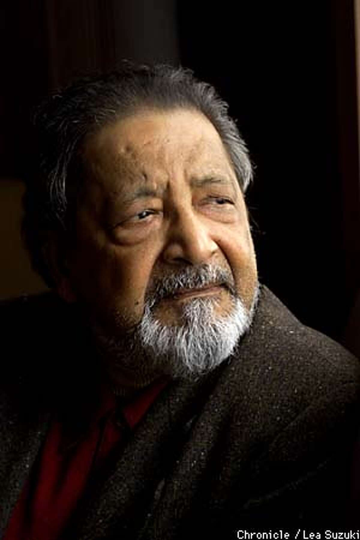V.S. Naipaul, who just won the Nobel Prize, is touring to promote his new novel, Half a Life. Photo By Lea Suzuki/ San Francisco Chronicle