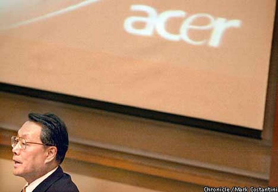 ACER COMPUTER COMPANY CEO DR. STAN SHIH SPEAKS AT THE HASS SCHOOL OF BUSINESS AT U.C. BERKELEY. PHOTO: MARK COSTANTINI /S.F CHRONICLE Photo: MARK COSTANTINI