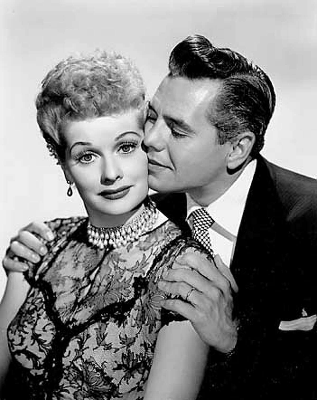 """Lucille Ball and Desi Arnaz starred in """"I Love Lucy"""". Stars and fans will celebrate television's most popular and groundbreaking television show on I LOVE LUCY'S 50TH ANNIVERSARY SPECIAL, a new entertainment presentation to be broadcast Sunday, Nov. 11 (9:00-11:00 PM, ET/PT) on the CBS Television Network, the home of the original series. Photo: CBS Photo Archive �2001 CBS Worldwide Inc. All Rights Reserved. This image is released for editorial use only in conjunction with I LOVE LUCY'S 50TH ANNIVERSARY SPECIAL. It may not be duplicated, leased, sold or otherwise distributed. Editorial permissions are revoked after November 12, 2001. For any questions regarding usage, please call the CBS Photo Archive at 212/975-4475."""