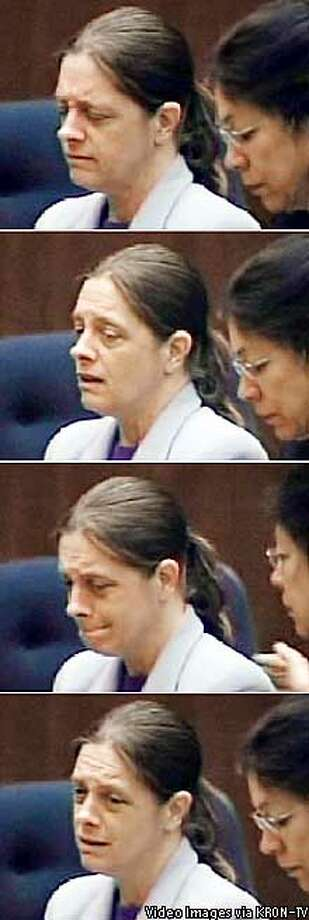 Marjorie Knoller looked crushed as she heard the verdict of second-degree murder. Video Images via KRON-TV