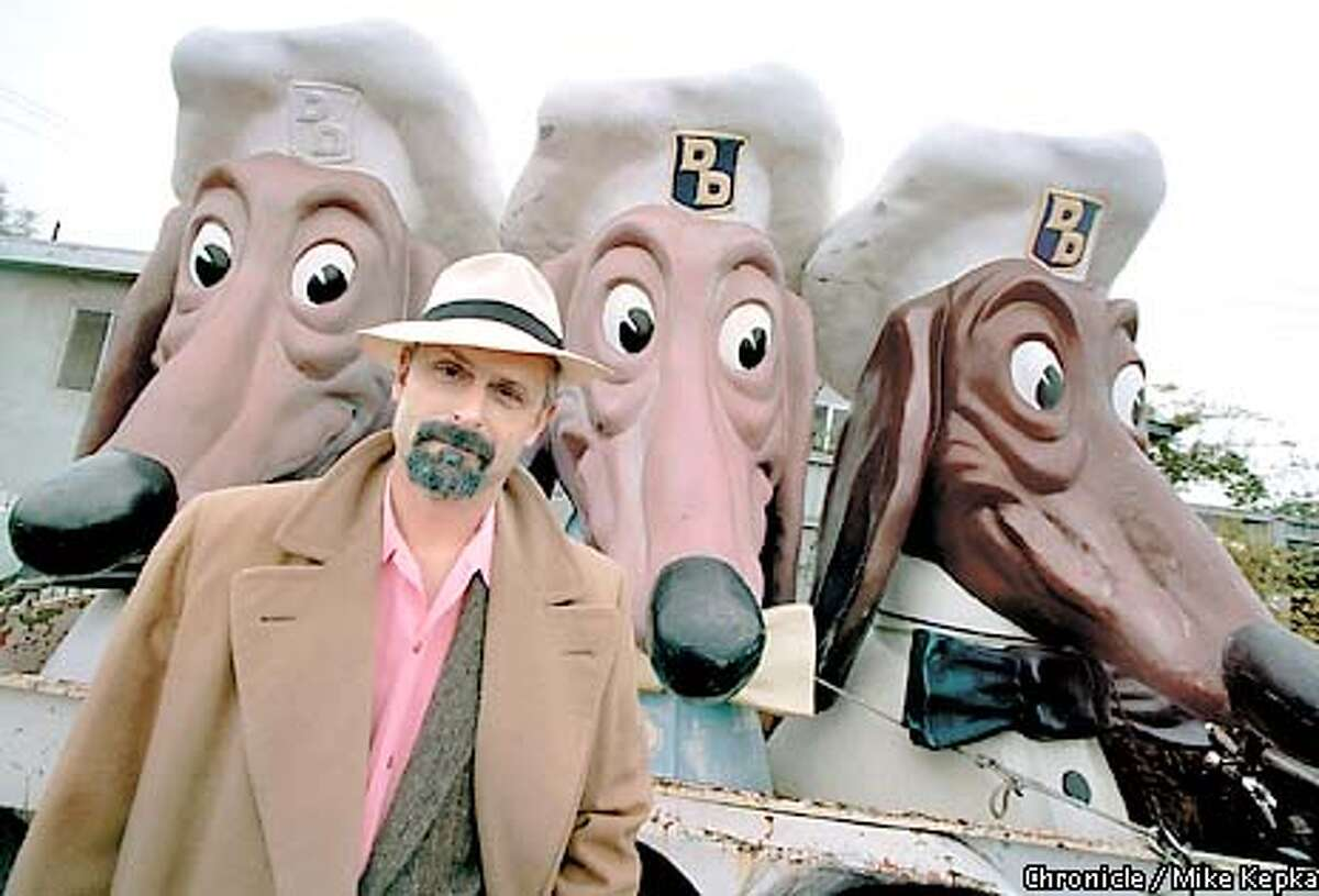 John Law of Emerville has a collection of Doggie diner heads. He calls them Manny Moe and Jack. BY MIKE KEPKA/THE CHRONICLE