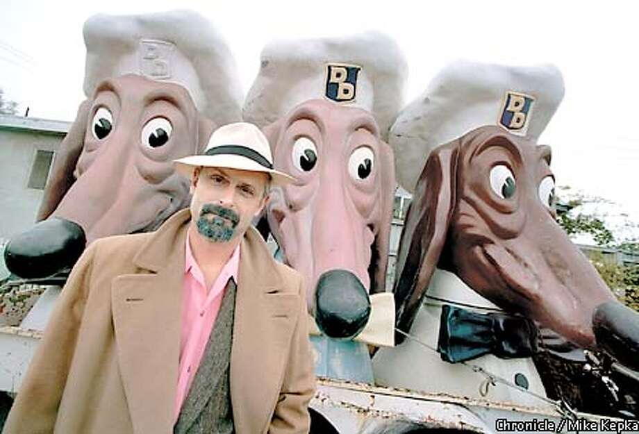 John Law of Emerville has a collection of Doggie diner heads. He calls them Manny Moe and Jack. BY MIKE KEPKA/THE CHRONICLE Photo: MIKE KEPKA