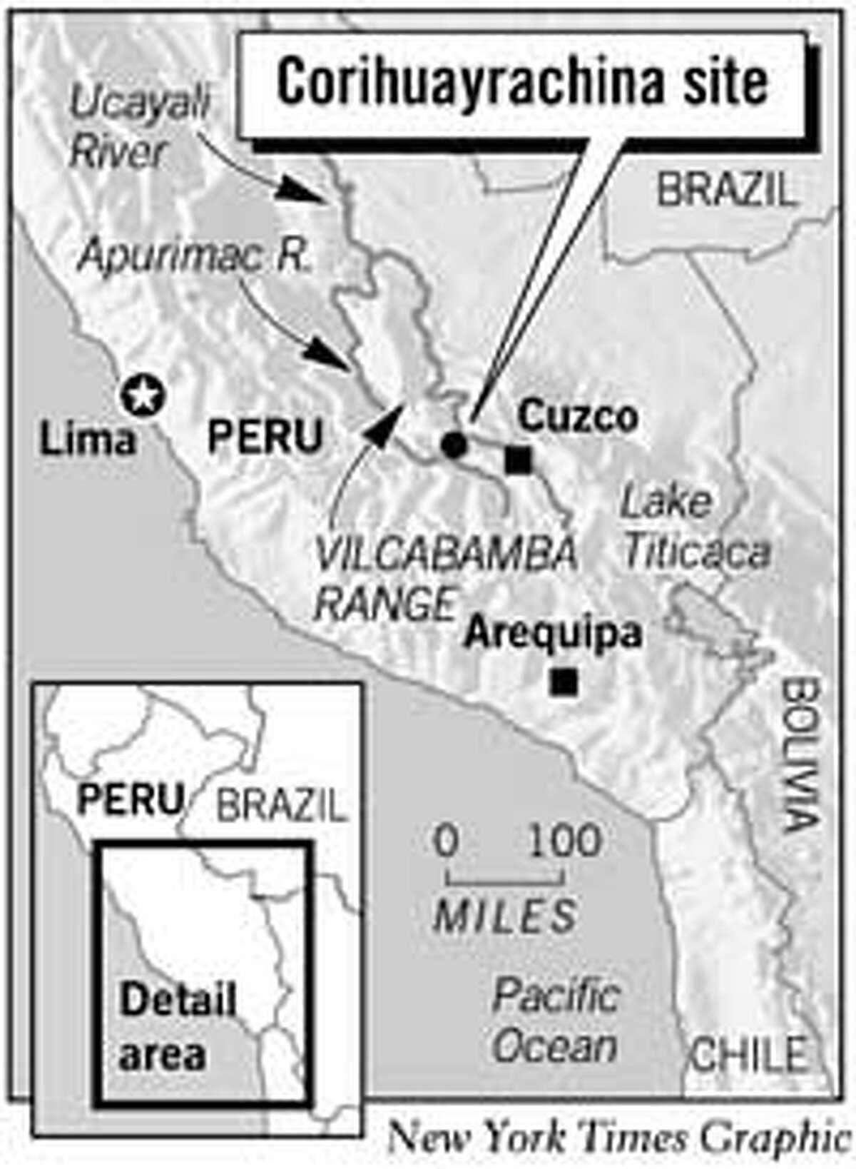 Corihuayrachina Site. New York Times Graphic