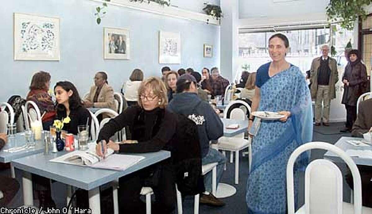 ANANDA FUARA, 1298 MARKET ST. SAN FRANCISCO A vegetarian resturant, operated by the followers of Sri Chinmoy, a guru that mastered medidation photo/John O'Hara