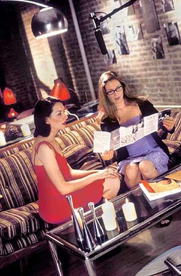 Heather Juergensen, left, and Jennifer Westfeldt portray Manhattan single women who decide to become a romantic couple.
