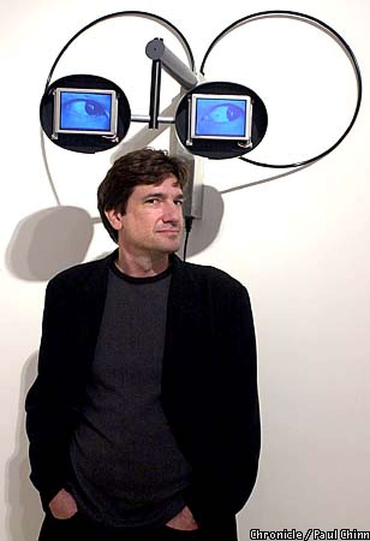 Sculptor/artist Alan Rath has created a series of sculptures using computer components and video screens which blink and wink at viewers. PAUL CHINN/S.F. CHRONICLE