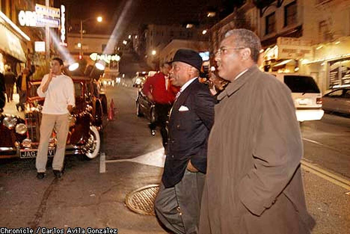 San Francisco Mayor, Willie Brown arrives at the opening of the Hustler Club in the North Beach neighborhood of San Francisco, Ca., on February 20, 2002. (CARLOS AVILA GONZALEZ/SAN FRANCISCO CHRONICLE)