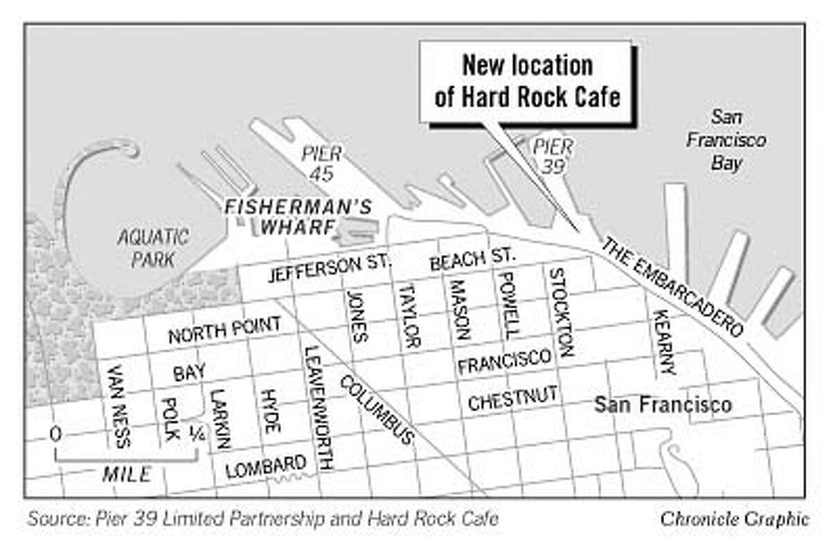 New Location of Hard Rock Cafe. Chronicle Graphic