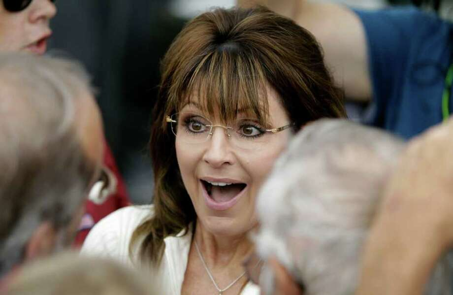Former Alaska Gov. Sarah Palin's trash talk about New Jersy Gov. Chris Christie landed her back in the news. Photo: Associated Press, Charlie  Neibergall