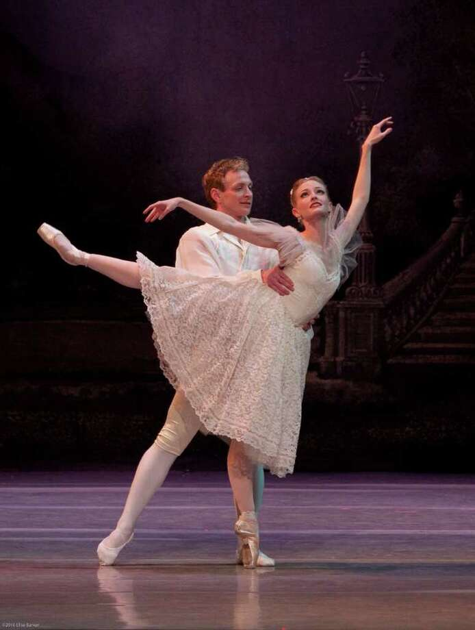 The 2010 Ballet San Antonio production of 'Coppelia' featured Ian Morris as Franz and Sarah Aujon as Swanhilda. Courtesy of Elise Barker Photo: Elise Barker / ©2010 Elise Barker