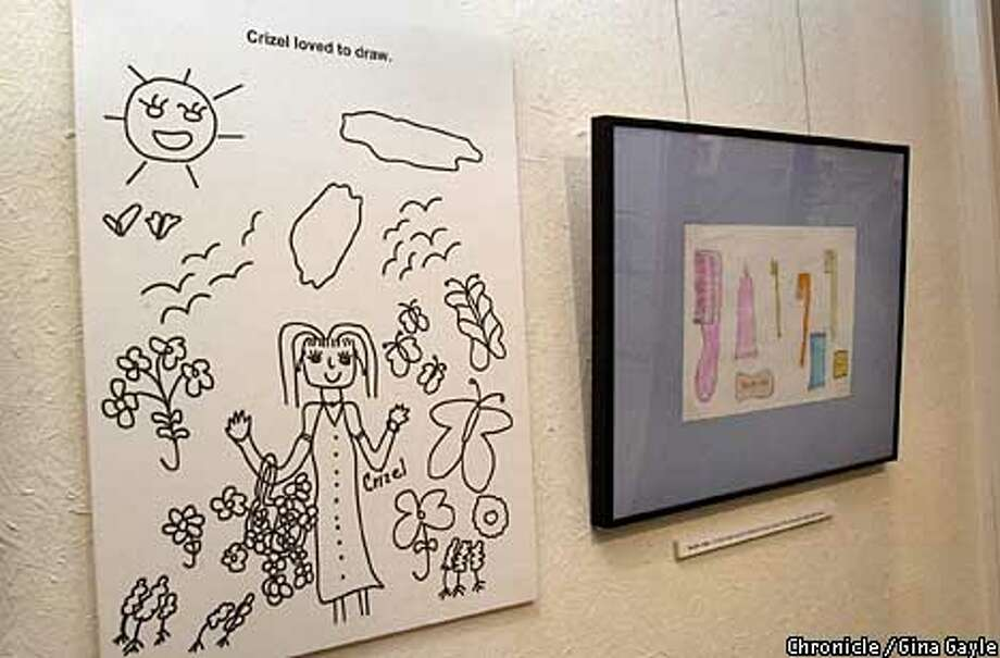 The artwork of Crizel Valencia on display at Posud Ceneter for Culture and Ecology. Photo by Gina Gayle/The SF Chronicle. Photo: GINA GAYLE