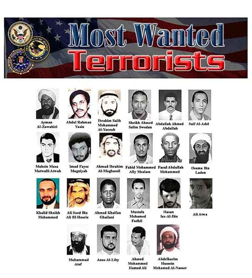 Suspect list, money used to hunt foes / U S  focuses on bin
