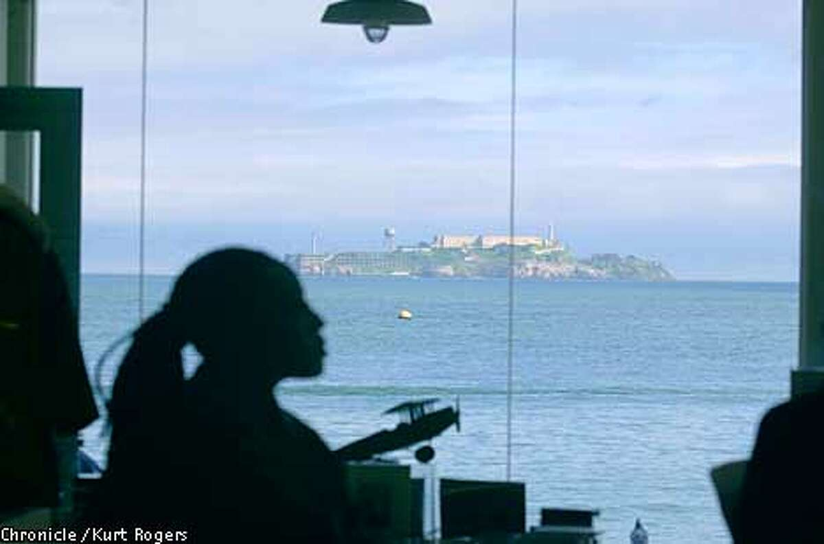 The WARMING HUT at Chrissy Fields. has a great view of Alcatraz Photo By Kurt Rogers