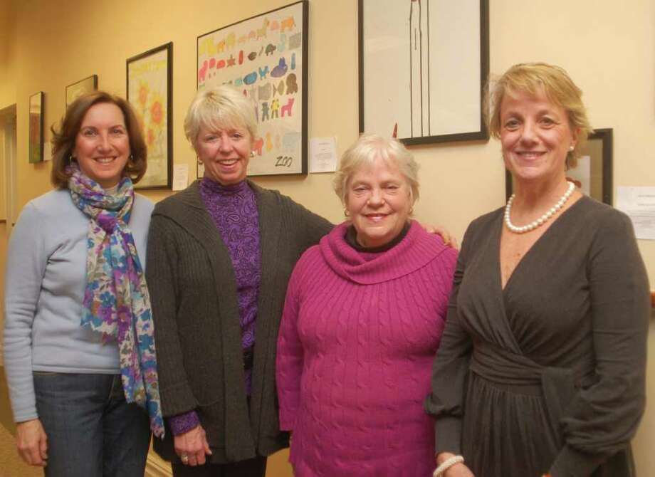 Laurie Saggese, Judy Bentley, Arts for Healing executive director Brooke Manning-Hinds and Gail Donovan of The Bank of New Canaan. Photo: Contributed Photo