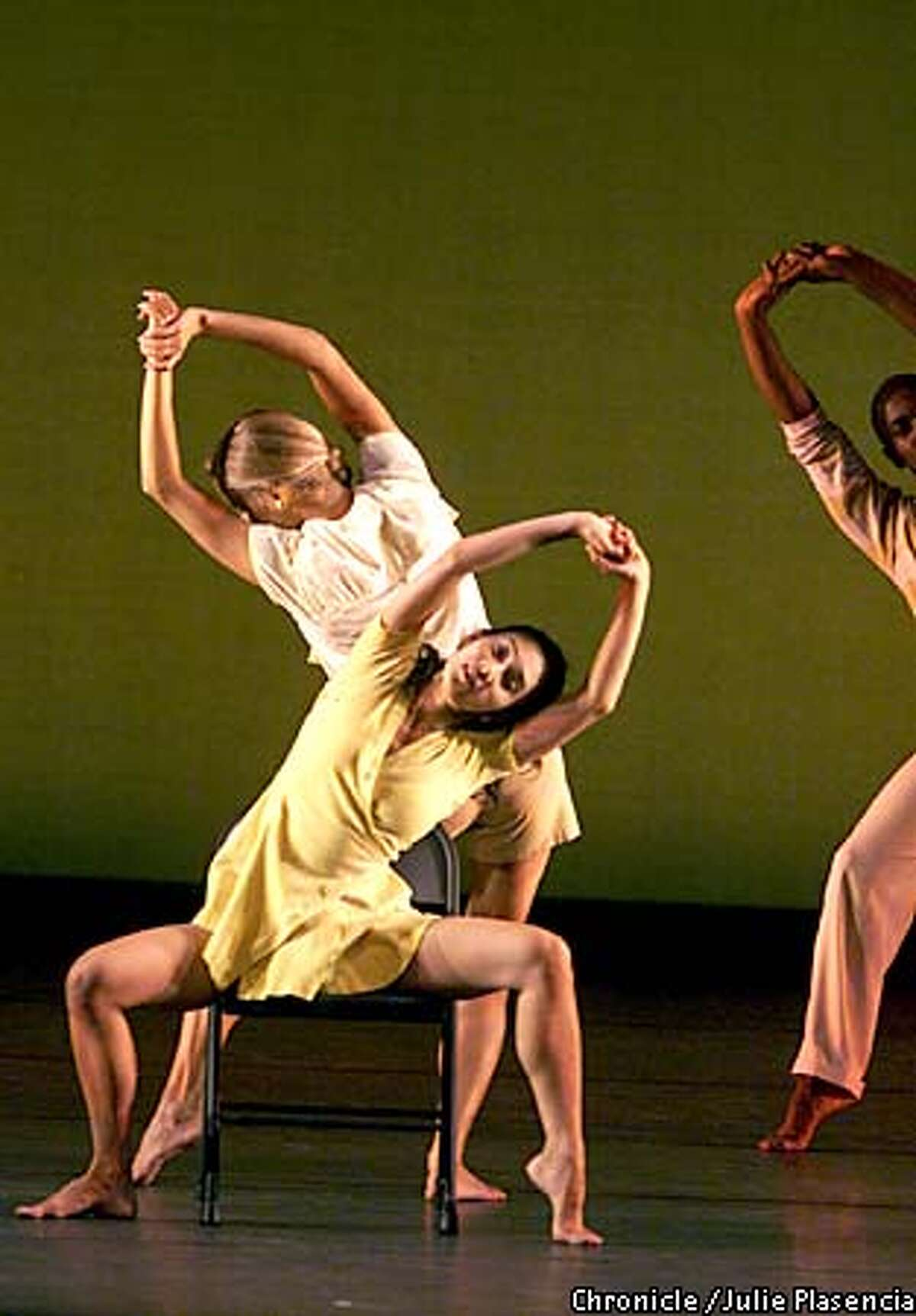"""The Mark Morris Dance Group performs a piece entitled """"Dancing Honeymoon"""" during opening night at Zellerbach hall in Berkeley. (JULIE PLASENCIA/SAN FRANCISCO CHRONICLE)"""