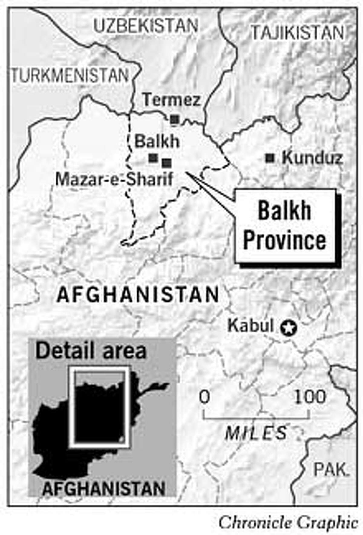 Balkh Province. Chronicle Graphic