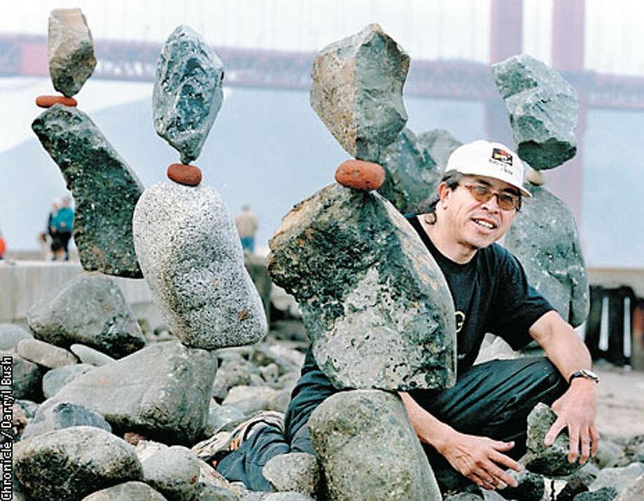 Bill Dan: rock artist extraordinaire. Chronicle photo by Darryl Bush